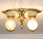 538 Vintage 20s 30s Ceiling Light lamp fixture art nouveau polychrome more avail