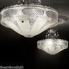239 Vintage 30s 40s Ceiling Light Lamp Fixture Chandelier Re-Wired white
