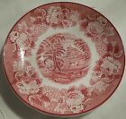 WOOD & SONS, ENGLAND, ENOCH WOODS ENGLISH SCENERY (RED) OVERSIZE SAUCER