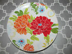 222 Fifth Huang Bright Floral 4 PC Set Round Mini Appetizer/Dessert Plates