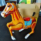 Vintage Cragstan  Japan Tin Litho Wind-Up Bucking Bronco Horse & Original  BOX