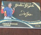 2014 Topps Certified Autograph Issue Five Star Golden Graphs George Springer 20
