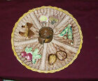 Tilso of Japan Vegetable Round Divided Tray Platter Serving Dish Mushroon Center