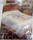 NEW Tree of Life Jacobean Quilt Kit Stamped Cross Stitch Double Bed Tobin 90x103