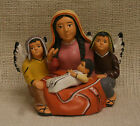 Mother Mary Baby Jesus With Angels Statue Christian Sculpture Figurine 4 3/4