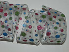25 ft White Sheer Pink Blue Green Glitter Circles Dot Wired Ribbon Bow Christmas
