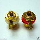2pcs Gold Plated RCA Panel Mount Chassis Socket Phono Female Jack Connector
