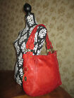 Fossil Floral Embossed Red Leather Colby Desi Large Tote Hobo Shoulder Bag Rare