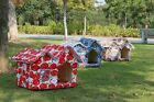 new Outdoor Pet Kennel Bed Cozy Dog Cat Puppy bed BIG Durable double roofs House