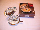 VTG Leonard Silver Plate Hinged Clam Shell Butter Dish w/Glass Insert No Knife