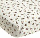 Kids Line Jungle 123 Fitted Sheet, Brown , New, Free Shipping