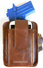 BROWN LEATHER CCW CONCEALMENT GUN PISTOL HOLSTER CLIP PACK for NAA 22 MAGNUM PUG