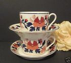 Fitz & Floyd China Mandarin Garden Coffee Tea Cups & Saucers