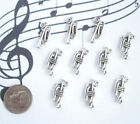 NEW 10 TIBET SILVER MUSICAL TRUMPET CHARMS PENDANTS CUTE