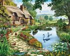 White Mountain Puzzles Lakeside Cottage - 1000 Piece Jigsaw Puzzle , New, Free S