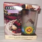 4 Corelle Impressions Sunsations 16oz Sunflower Drinking Glasses in Box