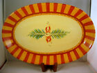 """Gail Pittman Siena Oval Platter 14"""" Serving Southern Living At Home Hand Painted"""