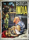 original italian 4sh movie poster INDIA MATRI BHUMI Roberto Rossellini 1960