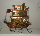 Vintage Brass / Copper Music Box Musical Wind Up Steamboat Steam Boat