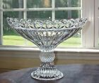 Vintage Shannon Heavy Lead Crystal Of Ireland Footed Pedestal Bowl Made n Poland