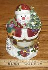 Ceramic Cookie/Treat/Candy Jar- Snowman Container **OOAK** Vintage