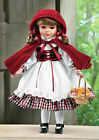 Porcelain doll, little red riding hood,collectible, stunning, 16