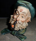 Vintage Collectible Ceramic Old Man Pipe Figurine French Beret Norleans Japan