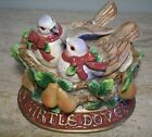 Fitz and Floyd 12 Twelve Days of Christmas II Two Turtle Doves Nest Salt Pepper