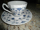 Churchill China cup and saucer made in England blue and white floral