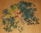 164 ASSORTED GREEN YELLOW BEIGE PLASTIC TOY SOLDIERS ARMY MEN COWBOYS INDIANS