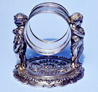 Antique 1883 Napkin Ring by Meriden Silver Plate Co #273 Cherubs on Scallop Base