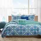 BEAUTIFUL BLUE TEAL AQUA GREEN OCEAN EXOTIC BOHEMIAN BEACH TROPICAL QUILT SET