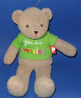 Hanny Girl Message Bear Soft Plush Stuffed Toy You Are Amazing Green Shirt NWOT