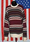Rare NWOT VTG Ugly Tacky Bill Cosby Rap Hip Hop Sweater RTW Med Long Multi-Color