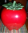 Vtg McCoy USA Red Delicious Apple Cookie Jar Green Pepper Orange Replacement Lid