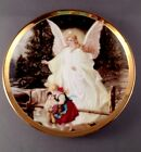 Porcelain Sm Plate ~Children on Bridge ~THE GUARDIAN ANGEL~ Gold Trim -Approx 4
