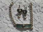 Warner Brothers Silver Tone and Blue Tweety Bird Bracelet and Earring Set