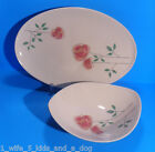 2 pc Set Iroquois China Informal Ben Seibel Rosemary Rose Serving Bowl