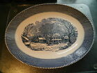 ROYAL CHINA CURRIER & IVES BLUE & WHITE OLD WINTER INN PATTERN 13