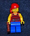 Pirate w/ Beard [Red/Blue] w/ Hand Musket ~ Lego Minifigure ~ MINT ~ NEW