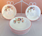 8 Vintage Edwin Knowles Semi Vitreous China 40-3 Fruit Berry Dessert Bowls