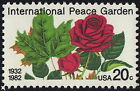 US 1982 20 Cents International Peace Garden Roses Flowers Issue 2014 NH VF