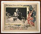 BIRTH OF A NATION R20S LC DW GRIFFITH ABRAHAM LINCOLN  GREAT BORDER ART