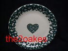 3 Tienshan Folk Craft Green Sponge Hearts Salad Plates  7-¾ inch Snack Sandwich
