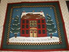 CRANSTON  LESLIE BECK 8 block SNOWMAN CHRISTMAS PILLOW  QUILT FABRIC PANEL