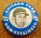 NOS 1969 or 1970 Don Kessinger SUNOCO Chicago Cubs MLB pin-back button Gas promo