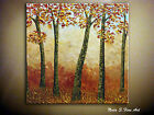 Original Fall Trees Painting.Landscape.Impasto.Palette Knife.Forest 30