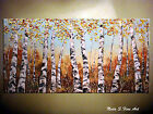 Original Birch Forest Painting.Palette knife   48