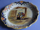 ANTIQUE PLATE FRENCH FAIENCE DESVRES ROUEN diameter 9