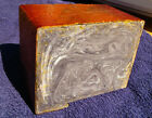 3413 gr. Antique Vintage Amber Bakelite dice rod block XXL brown yellow faturan